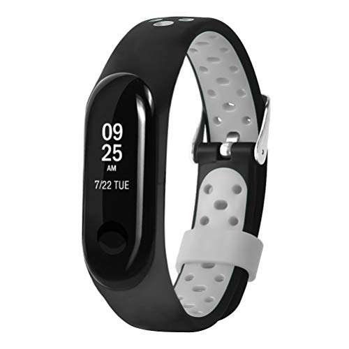 Price comparison product image CSSD Clearance Unisex Fashion Replacement Ventilate Sport Soft Wrist Straps Wristbands For Xiaomi Mi Band 3 (Gray)