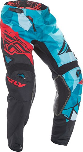 Fly Racing Unisex-Adult Kinetic Crux Pants (Teal/Red, Size 36)