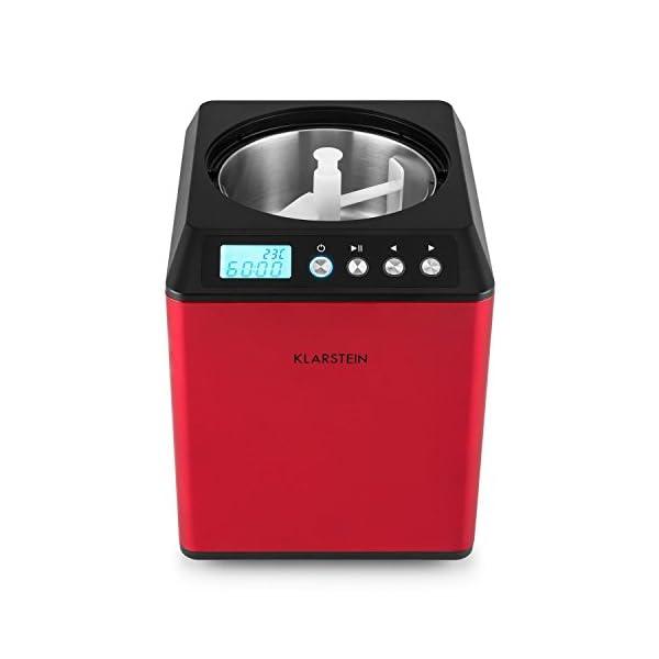 Klarstein Vanilla Sky - Macchina per Gelato, Funzione di Raffreddamento, Timer, 30-40 min, Display LED, Facile da Pulire… 4 spesavip