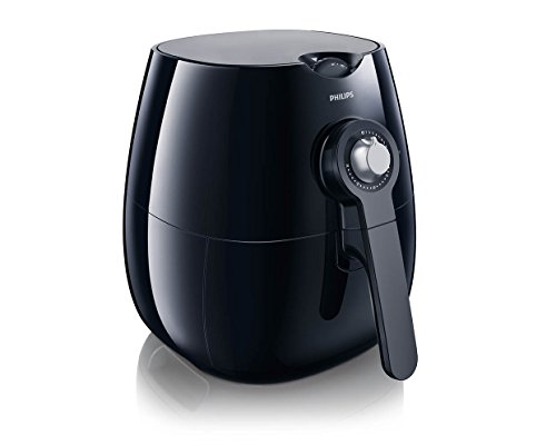Philips Starfish Technology Airfryer with Cookbook, Black - 1.8lb/2.75qt- HD9220/28