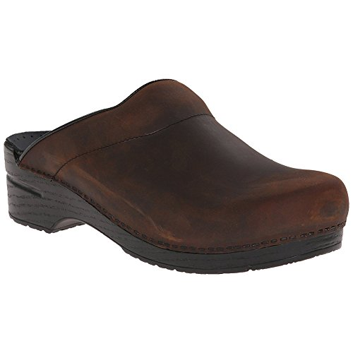 - Dansko Stylish Karl Men Mules & Clogs Shoes, Elegant Footwear, Antique�Brown�-�Black�Oiled, Size - 43