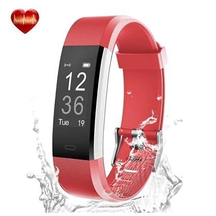 Amazon.com: Reloj inteligente pulsera id115hr. Resistente al ...