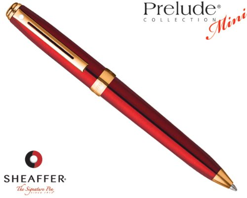 (Sheaffer Prelude Mini Translucent Red featuring Gold Tone Trim Ballpoint Pen 9804-2)