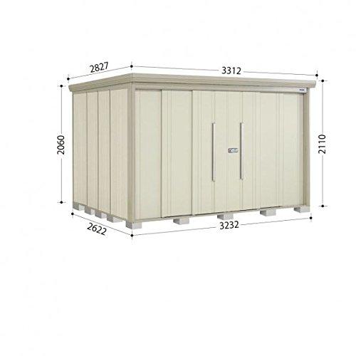 タクボ物置 ND/ストックマン 側面棚 ND-S3226Y 多雪型 標準屋根 『屋外用中型大型物置』 ムーンホワイト B018CAAI3S