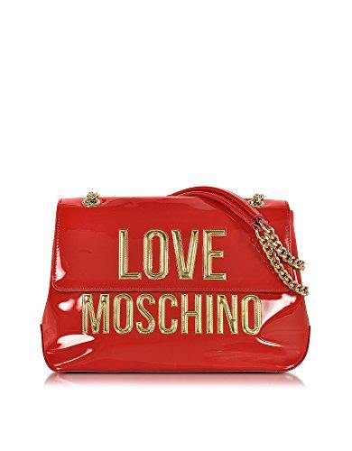LOVE MOSCHINO FEMME JC4282PP03KK0500 ROUGE CUIR VERNIS SAC PORTÉ ÉPAULE