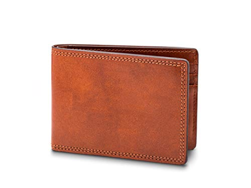 (Bosca Men's Small Bifold Leather Wallet In)