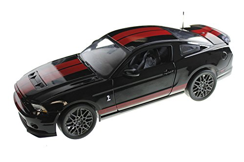 2013 Ford Shelby Mustang Cobra GT500 SVT Black with Red Stripes 1/18 by Shelby Collectibles SC399