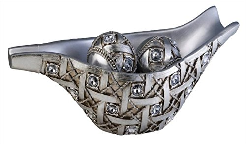 - ORE International K-4259B Dazzle Decorative Bowl with Spheres, 7.75-Inch Height, Silver
