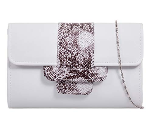 Faux Evening Snakeskin 948 White Ladies Bag Women's Wedding LeahWard Wedding Clutch Handbags qOUq8