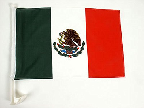 Sided Car Flag (One Dozen Mexico Single-Sided Car Flag)