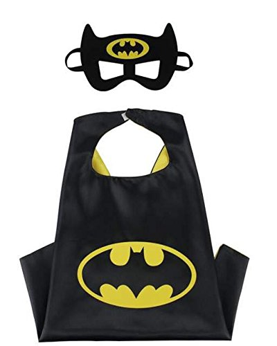 Superhero Cape and Mask Costume Set Boys Girls Birthday Halloween Play Dress Up - Costume Warehouse Girls