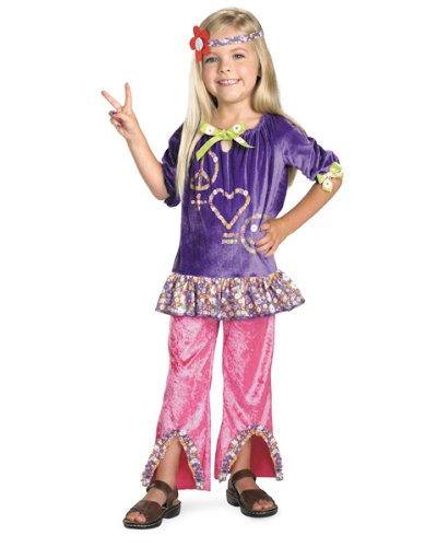 Peace Love Hippie Toddler Costumes (Hippy Girl Costume (Size 3t-4t))