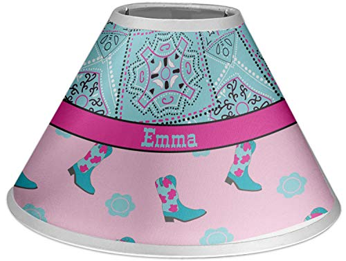 RNK Shops Cowgirl Coolie Lamp Shade (Personalized)