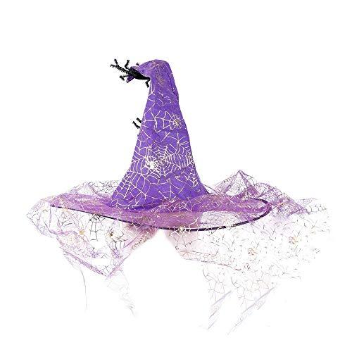 Volcanics Halloween Costume Spider Witch Hat for Women,