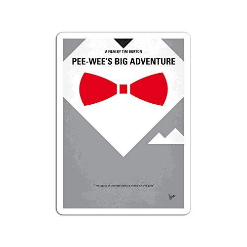 BreathNenStore Sticker Motion Picture No511 My Pee Wees Big Adventure Minimal Movie W Movies Video Film (3