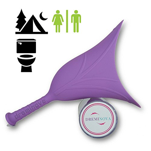 Wavy Machine - Female Portable Urinal Device Reusable Urination Funnel for Women Cup Pee Standing Up for Camping, Travel, Outdoor Activities, Purple