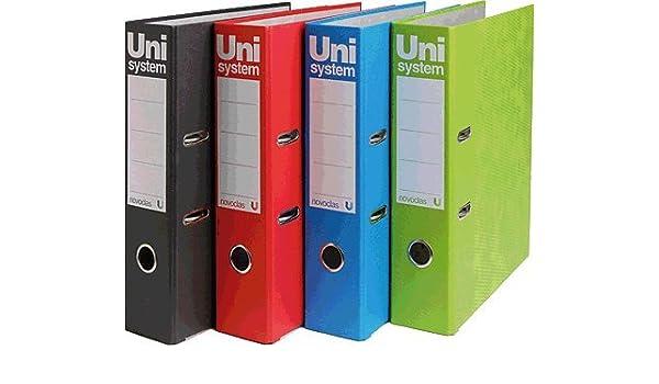 Unisystem 093874 - Archivador A4, color azul: Amazon.es: Oficina y papelería