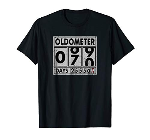 OLDOMETER 70 Years Old Made In 1948 70th Birthday T Shirt