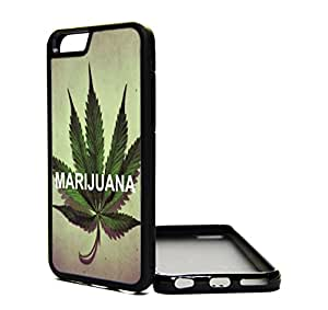 iPhone 6 Case Popular Bud Life Ganja Weed Design Cover Skin BLACK RUBBER SILICONE TPU Teen Girls Gift Vintage Fashion Art Print Cell Phone Accessories