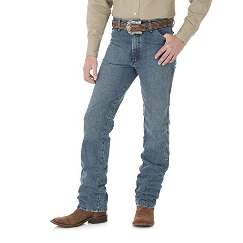(Wrangler Men's Cowboy Cut Slim Fit Jean, Rough Stone, 32W x 34L)