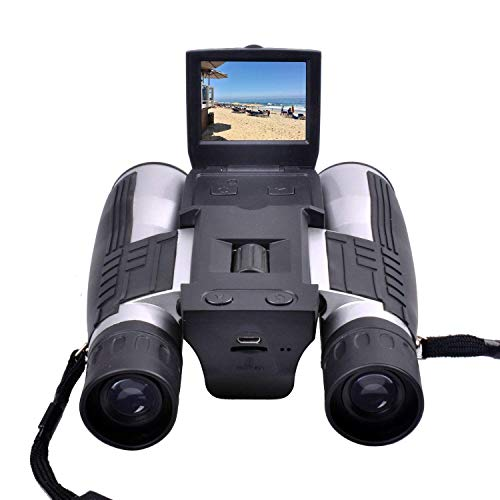 Binoculars Camera,CamKing 720P Digital Camera Binoculars Camera with 2″ LCD Display 12×32 Folding Prism Digital Binoculars with Camera Video Great for Bird Watching Concerts and Sports Games