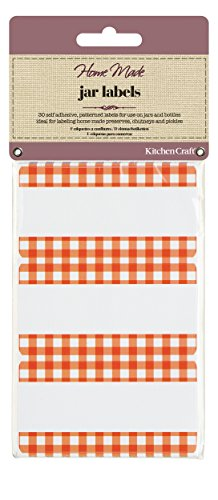 Kitchen Craft Home Made Canning Labels - Gingham
