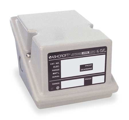 Ashcroft Series L Epoxy Coated Die Cast Aluminum General Purpose Industrial Pressure Control Switch with SPDT Contact Form, Adjustable Deadband, 1/4'' NPT Female Connection, Viton Actuator Seal, 20/200 psi Range