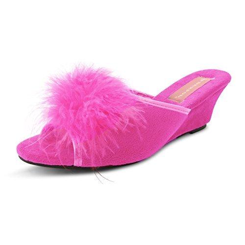 Dunlop - Zapatillas de estar por casa para mujer fucsia