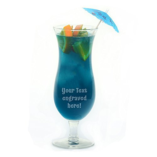 Personalized Hurricane Glass Engraved with Your Custom Text -