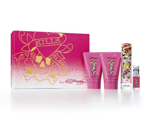 Ed Hardy 4 Piece Ladies Fragrance Set