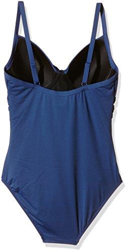 Moontide Contours Tie Front U/W Suit, Traje de Baño Para Mujer Azul (Jeans)