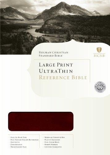 HCSB Large Print Ultrathin Reference Bible, Mahogany LeatherTouch pdf