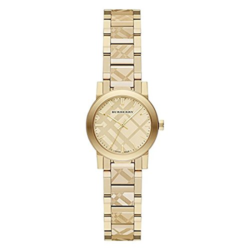 Burberry Women's Swiss Gold Ion-Plated Stainless Steel Bracelet Watch 26mm ()