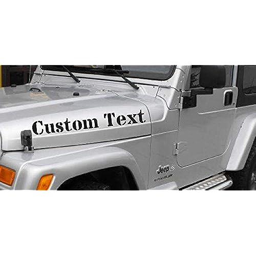 Graphics For Jeeps Amazoncom - Custom vinyl car hood decalscustom vinyl car graphics installation chicago il