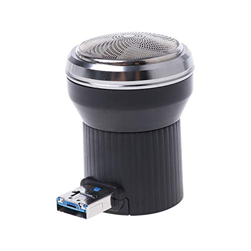 (Creative Electric Shaver Mini Portable Usb Power Plug Travel Beard Trimmer Razor,Black)