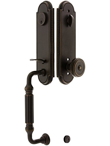 Orleans Style Tubular Handleset In Oil Rubbed Bronze With Waverly Knobs And 2 3/8