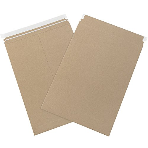 Aviditi RMU1015K Chipboard Utility Flat Mailer, 15'' Length x 10-1/2'' Width, 0.015'' Thick, Kraft (Case of 200) by Aviditi