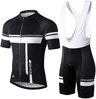 INBIKE Ropa Conjunto Traje Equipacion Ciclismo Hombre Verano con 3D Acolchado De Gel, Maillot Ciclismo + Pantalon/Culote Bicicleta para MTB Ciclista ...