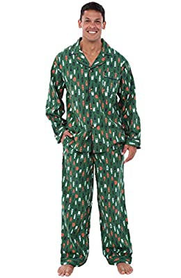 Alexander Del Rossa Men's Lightweight Button Down Pajama Set, Long Cotton Pjs
