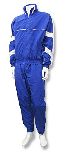 Code Four Athletics 'Firenzi' jacket/pant warm-up set - size Adult XXL - color Royal/White