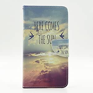 QYF 20150511Sunshine PU Leather Wallet Case with Screen Protector for Samsung Galaxy Note Edge/N9150