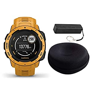 Garmin Instinct Rugged Outdoor Watch Bundle – Includes Power Bank | Watch Case