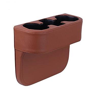 Amazon.es: besplore portátil piel cubierta para vasos de coches Soporte para automóvil vehiche asiento cuña organizador de soporte para teléfono móvil ...