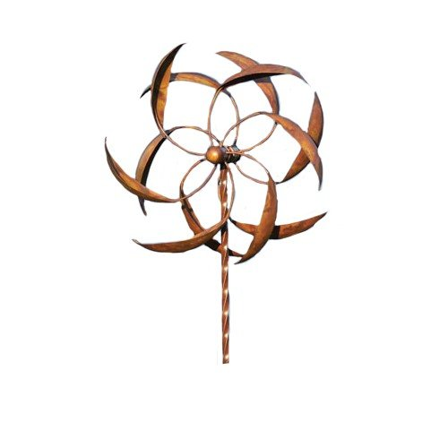 Ancient Graffiti 15-Inch Staked Feather Kinetic Spinner, Large