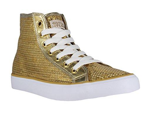 Gotta Flurt Women's Disco II Hi Shoes Gold -