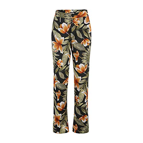 LISTHA Floral Wide Leg Pants for Women Plus Size Stretchy Palazzo Trousers
