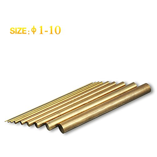 SFX H59 Brass solid hexagonal rod Dia 6mm to 18mm Length 100mm (13pcs Dia 10mm) Dia Solid Brass Rod