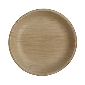 "Table To Go Palm Leaf Round Salad Plates, 7"", Pack of 200"