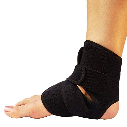 RiptGear Ankle Brace for Women and Men - Adjustable Ankle Support and Compression for Sprained Ankle - Ankle Stabilizer for Running, Basketball, Volleyball, Sports (Small)