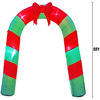 Amazon Com Inslife 8 Ft Large Christmas Inflatable Arch